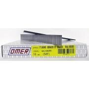 Caja brads 12/16 negro Omer