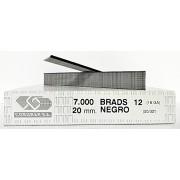 Caja brads 12/20 negro
